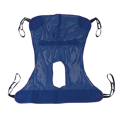 Drive Medical Full Body Patient Lift Sling, With Commode Cutout, Medium