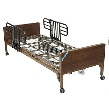 Drive Medical Semi Electric Bed, Half Rails