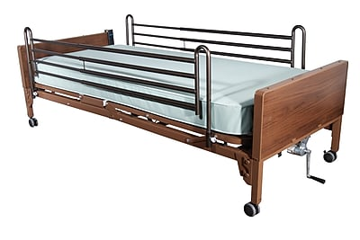 Drive Medical Semi Electric Bed, Full Rails, Foam Mattress