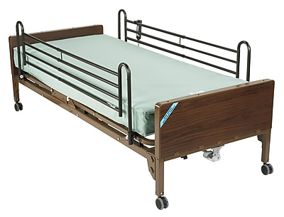 Drive Medical Delta Ultra Light Semi Electric Bed, Full Rails, Foam Mattress