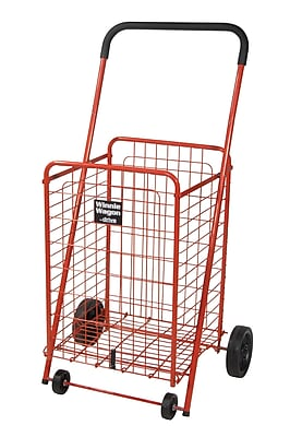 Drive Medical Winnie Wagon All Purpose Shopping Utility Cart, Red