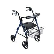 """Drive Medical DLite Rollator Walker with 8"""" Wheels and Loop Brakes"""