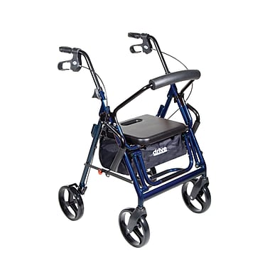 Drive Medical - Fauteuil de transport/rollator Duet, bleu