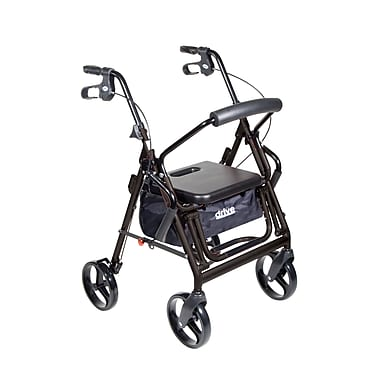 Drive Medical - Fauteuil de transport/rollator Duet noir