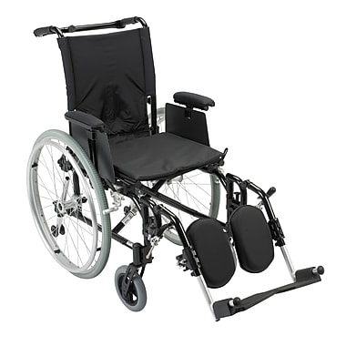 Drive Medical Cougar Ultra Lightweight Rehab Wheelchair, Elevating Legrest, 16