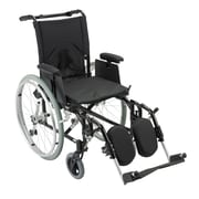 "Drive Medical Cougar Ultra Lightweight Rehab Wheelchair, Elevating Leg rest, 16"" Seat"