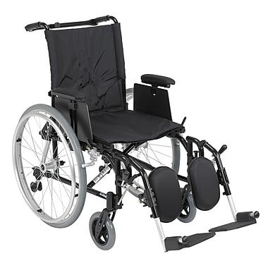 Drive Medical Cougar Ultra Lightweight Rehab Wheelchair, Elevating Leg rest, 18