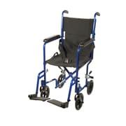 "Drive Medical Lightweight Transport Wheelchair, Blue, 17"" Seat"