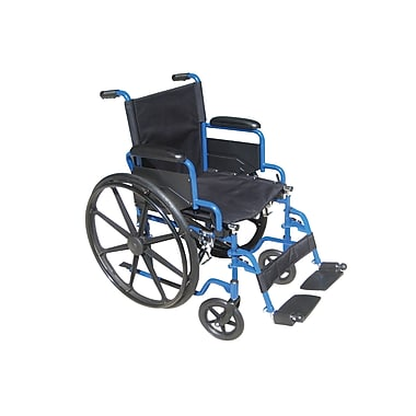 Drive Medical Blue Streak Wheelchair with Flip Back Desk Arms, 18