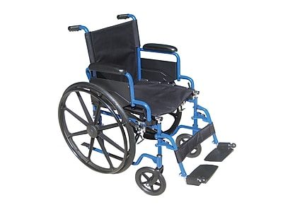 Drive Medical Blue Streak Wheelchair with Flip Back Desk Arms, 16