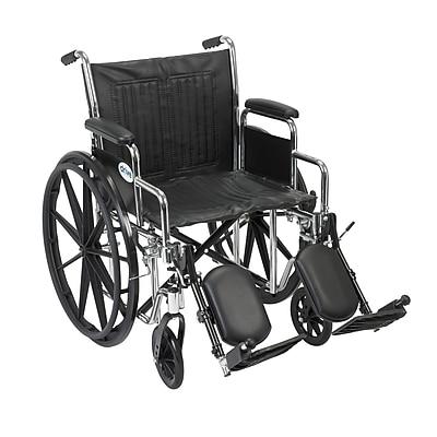 Drive Medical Chrome Sport Wheelchair, Detach Desk Arm, Leg rest, 16