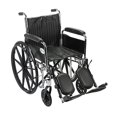 Drive Medical Chrome Sport Wheelchair, Detach Full Arm, Legrest, 16