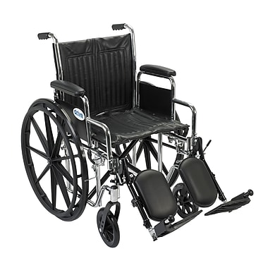 Drive Medical Chrome Sport Wheelchair, Detach Desk Arm, Legrest, 18