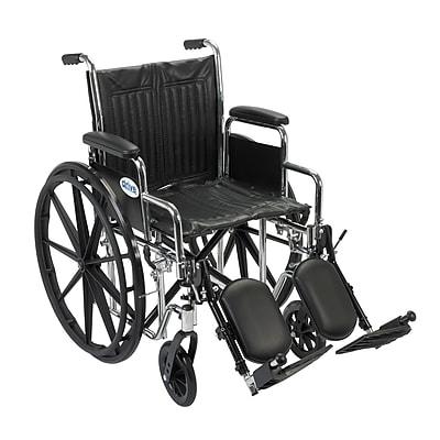 Drive Medical Chrome Sport Wheelchair, Detach Desk Arm, Leg rest, 18