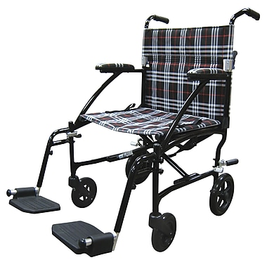 Drive Medical - Fauteuil de transport ultra léger Fly-Lite, noir