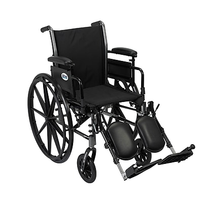 Drive Medical Cruiser III Wheelchair with Flip Back Removable Arms, Adj Desk Arms, Legrest, 20