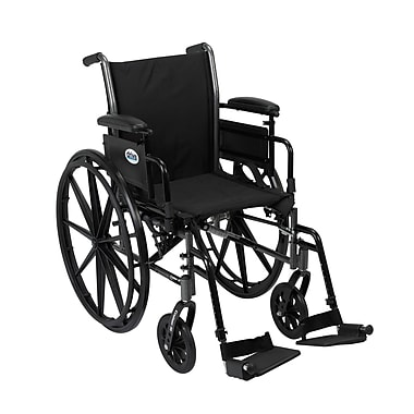 Drive Medical Cruiser III Wheelchair with Flip Back Removable Arms, Adjustable Desk Arms, Footrest, 18