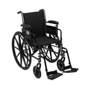 Drive Medical Cruiser III Wheelchair with Flip Back Removable Arms, Adjustable Desk Arms, Footrest, 18""