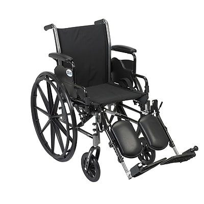 Drive Medical Cruiser III Wheelchair with Removable Flip Back Arms, Desk Arms, Legrest, 16