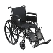 Drive Medical Cruiser III Wheelchair with Flip Back Removable Arms, Full Arms, Legrest
