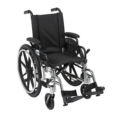 Drive Medical – Fauteuil roulant Viper avec accoudoirs amovibles et repose-pieds, 14 po