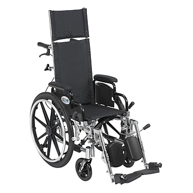 Drive Medical Viper Plus Reclining Wheelchair with Detachable Arms, 12