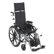 "Drive Medical Viper Plus Reclining Wheelchair with Detachable Arms, 12"" Seat"