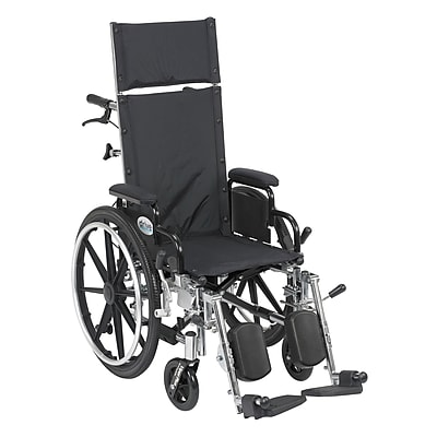 Drive Medical Viper Plus Reclining Wheelchair with Detachable Arms, 14