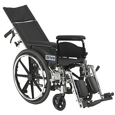 Drive Medical Viper Plus GT Full Reclining Wheelchair, 18