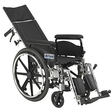 Drive Medical Viper Plus GT Full Reclining Wheelchair, 18