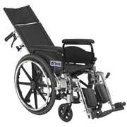 "Drive Medical Viper Plus GT Full Reclining Wheelchair, 18"" Seat Width, Full Arms"