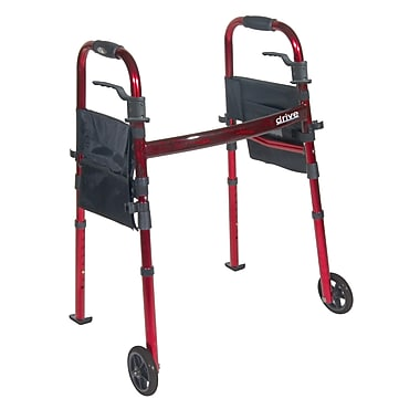 Drive Medical Portable Folding Travel Walker with 5