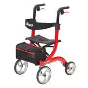 Drive Medical Nitro Euro Style Rollator Walker, Red