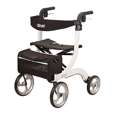 Drive Medical Nitro Euro Style Rollator Walker, White