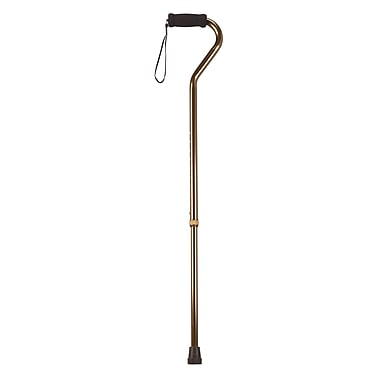 Drive Medical Foam Grip Offset Handle Walking Cane, Bronze