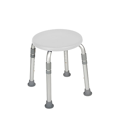Drive Medical Adjustable Height Bath Stool, White