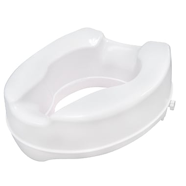 Drive Medical Raised Toilet Seat with Lock, Standard Seat, 4