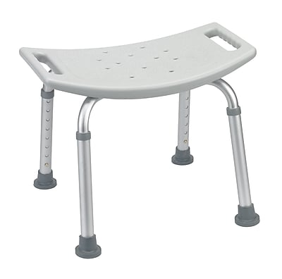Drive Medical Bathroom Safety Shower Tub Bench Chair, Without Back, Grey