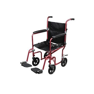 Drive Medical - Fauteuil de transport poids mouche avec roulettes amovibles, rouge