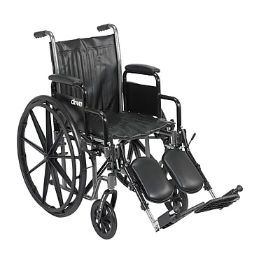 Drive Medical Silver Sport 2 Wheelchair, Desk Arms, Legrest, 18