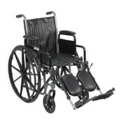 "Drive Medical Silver Sport 2 Wheelchair, Desk Arms, Legrest, 16"" Seat"