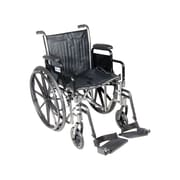 "Drive Medical Silver Sport 2 Wheelchair, Desk Arms, Footrest, 20"" Seat"