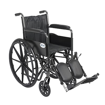 Drive Medical Silver Sport 2 Wheelchair, Fixed Arms, Legrest, 16