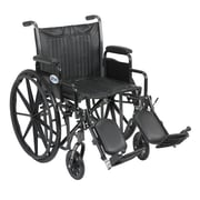 "Drive Medical Silver Sport 2 Wheelchair, Desk Arms, Legrest, 20"" Seat"