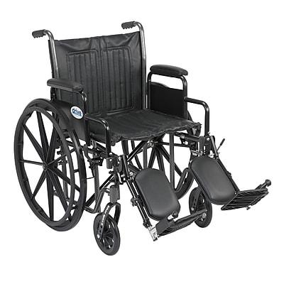 Drive Medical Silver Sport 2 Wheelchair, Desk Arms, Leg rest, 20