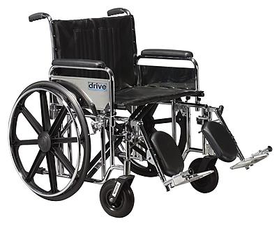 Drive Medical Sentra Extra Heavy Duty Wheelchair, Full Arms, Legrest, 22