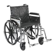 """Drive Medical Sentra Extra Heavy Duty Wheelchair, Full Arms, Footrest, 20"""""""