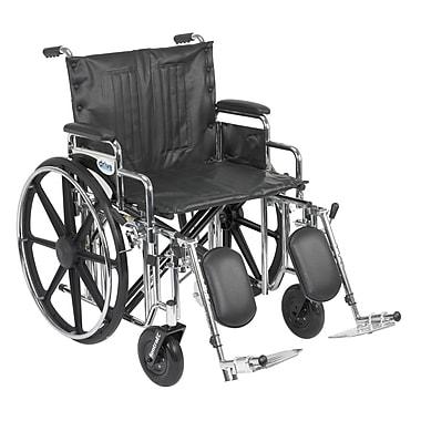 Drive Medical Sentra Extra Heavy Duty Wheelchair, Desk Arms, Legrest, 22