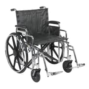 """Drive Medical Sentra Extra Heavy Duty Wheelchair, Desk Arms, Footrest, 22"""""""