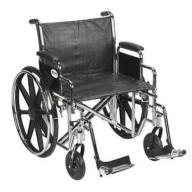 Drive Medical Sentra EC Heavy Duty Wheelchair, Desk Arms, Footrest, 24